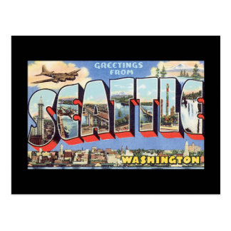 Greetings from Seattle Washington_Vintage Travel Postcard