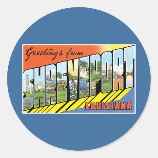 Greetings from Shreveport, Louisiana! Classic Round Sticker