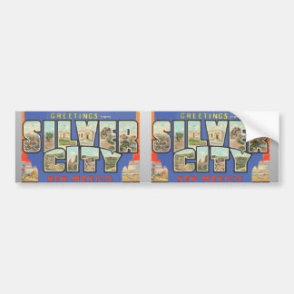 Greetings From Silver City New Mexico , Vintage Bumper Sticker