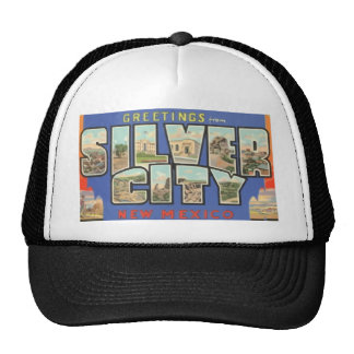 Greetings From Silver City New Mexico , Vintage Trucker Hats