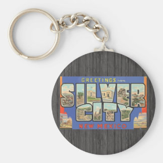 Greetings From Silver City New Mexico , Vintage Key Chain