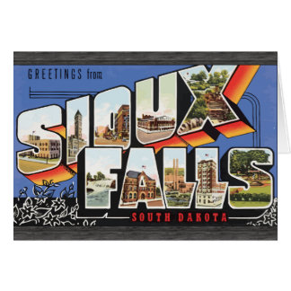Greetings From Sioux Falls South Dakota, Vintage Greeting Card