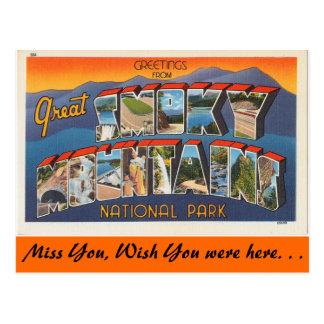 Greetings from Smoky Mountains Postcard