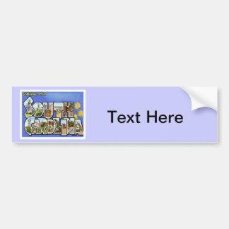 Greetings From South Carolina SC Car Bumper Sticker
