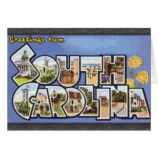 Greetings From South Carolina, Vintage Greeting Card