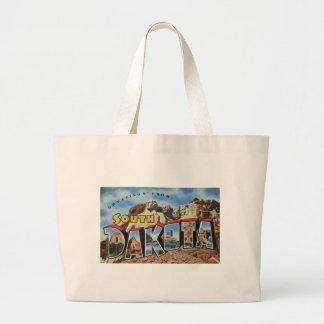 Greetings From South Dakota Large Tote Bag