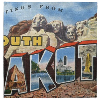 Greetings From South Dakota Napkin