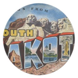 Greetings From South Dakota Plate