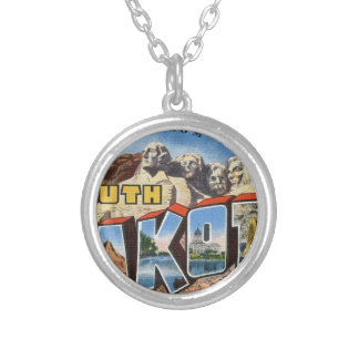 Greetings From South Dakota Silver Plated Necklace