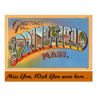 Greetings from Springfield Postcard
