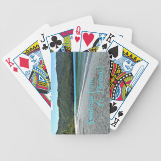 Greetings from St. Thomas Bicycle Playing Cards