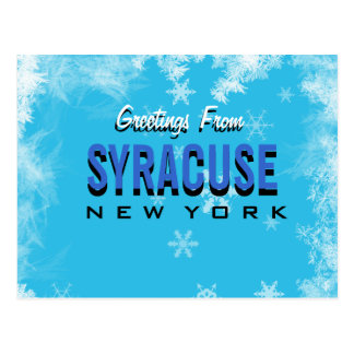 Greetings From Syracuse New York postcard