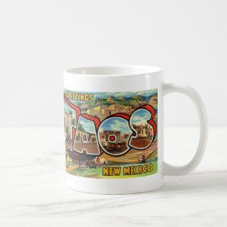 Greetings from Taos New Mexico Postcard Coffee Mug