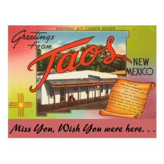Greetings from Taos Postcard