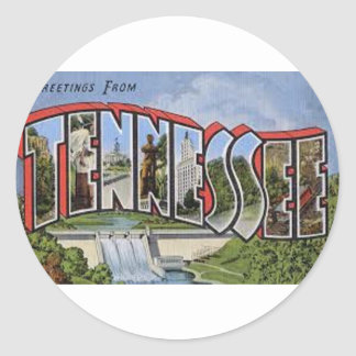 Greetings From Tennessee Classic Round Sticker