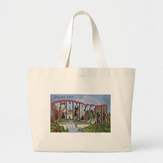 Greetings From Tennessee Large Tote Bag