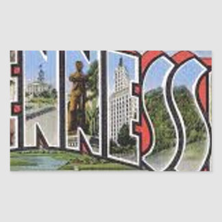 Greetings From Tennessee Rectangular Sticker