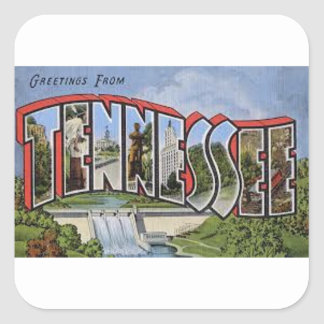 Greetings From Tennessee Square Sticker