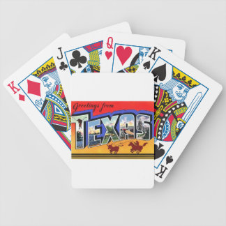 Greetings From Texas Bicycle Playing Cards