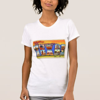 Greetings From Texas Letter Style Travel Postcard T Shirts