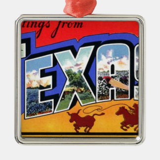 Greetings From Texas Metal Ornament