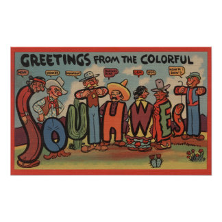 Greetings from the Colorful Southwest Poster