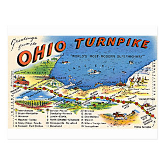 Greetings from the Ohio Turnpike postcard