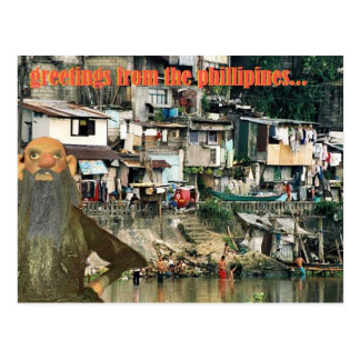 greetings from the phillipines postcard