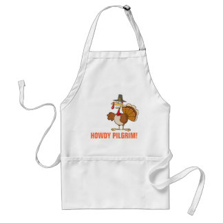 Greetings from the Thanksgiving Day Turkey Adult Apron