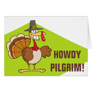 Greetings from the Thanksgiving Day Turkey Note Card