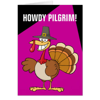 Greetings from the Thanksgiving Day Turkey Greeting Card