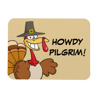 Greetings from the Thanksgiving Day Turkey Rectangular Photo Magnet
