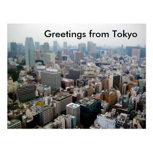 Greetings from Tokyo Postcard