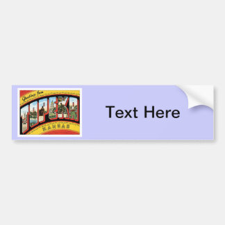 Greetings From Topeka Kansas Bumper Sticker