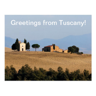 Greetings from Tuscany Postcard