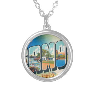 Greetings From Vermont Silver Plated Necklace