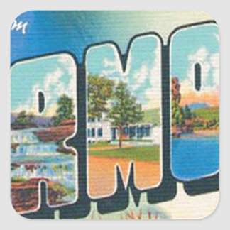 Greetings From Vermont Square Sticker