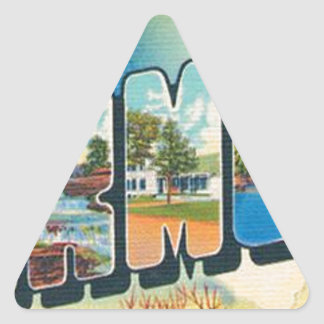 Greetings From Vermont Triangle Sticker