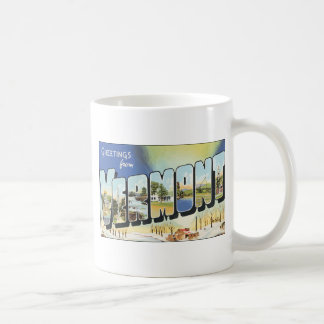 Greetings From Vermont, Vintage Coffee Mug