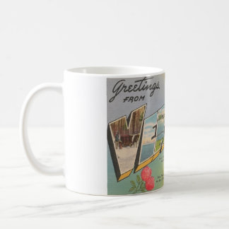 Greetings From Vermont Vintage Postcard Mug