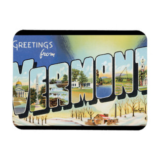 Greetings from Vermont_Vintage Travel Poster Rectangular Photo Magnet
