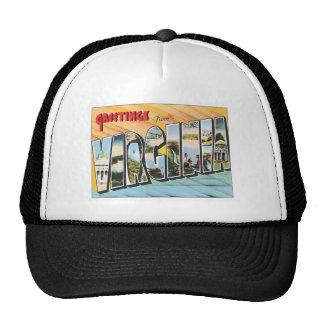 Greetings From Virginia VA USA Trucker Hats