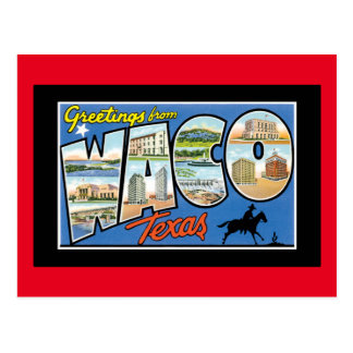 Greetings from Waco Texas Postcard