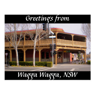Greetings from Wagga Wagga, NSW Postcard