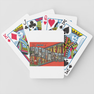 Greetings From Washington Bicycle Playing Cards