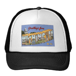 Greetings From Washington, D.C. USA Hats