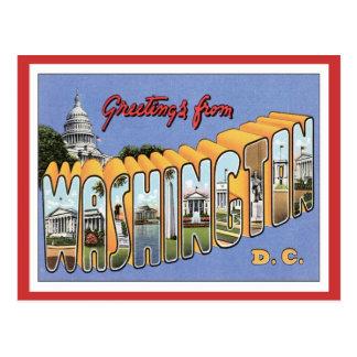 Greetings From Washington, D.C. USA Postcard