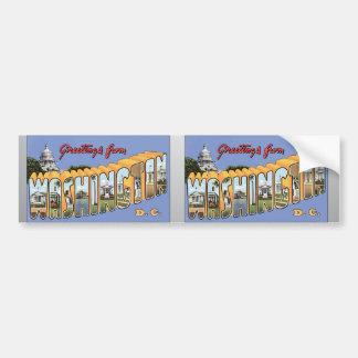 Greetings From Washington D.C., Vintage Bumper Sticker