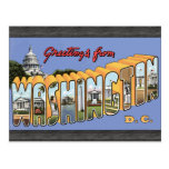 Greetings From Washington D.C., Vintage Post Card