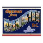 Greetings From Washington DC! Postcard